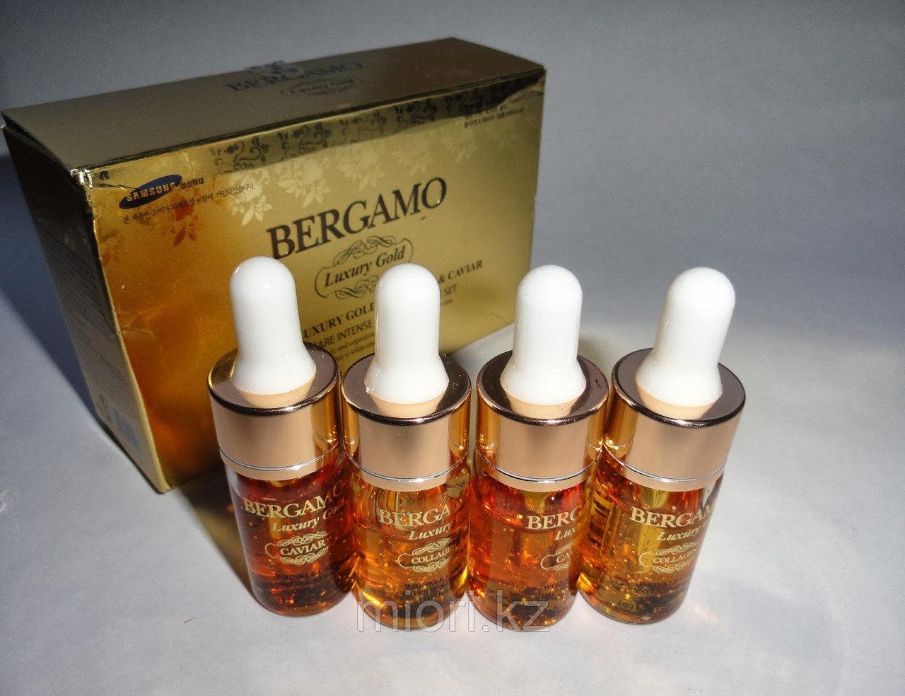 Увлажняющий, восстанавливающий набор сывороток с золотом и коллагеном Bergamo Luxury Gold Collagen Ampoule Set