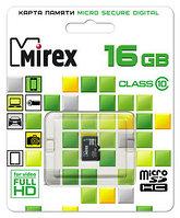 Mirex Micro SD 16 gb 10 class оригинал