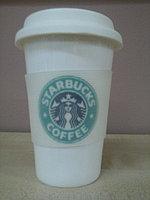 Термокружка Starbucks Белая, 280 мл, Керамика, Для кофе