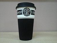 Термокружка Starbucks Черная, 280 мл, Керамика, Для кофе и чая