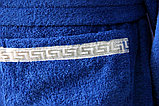 Мужской банный махровый халат с лентой. Хлопок. Россия. , фото 3