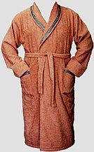 Махровый домашний мужской халат. Россия