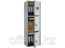 Шкаф металлический бухгалтерский ПРАКТИК SL-150/3Т EL