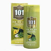 Шампунь для волос Oumile 101 от облысения с ЗЕЛЕНЫМ ЧАЕМ И ОЛИВОЙ, 408 МЛ