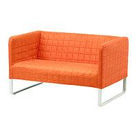 Диван 2-местный КНОППАРП оранжевый ИКЕА, IKEA , фото 1