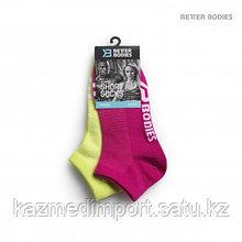 BB Short socks 2 ,короткие носки розовые/лайм M
