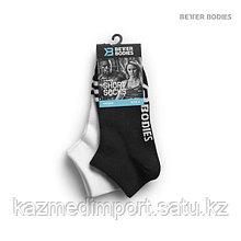 BB Short socks 2 ,короткие носки черные/белые S-M