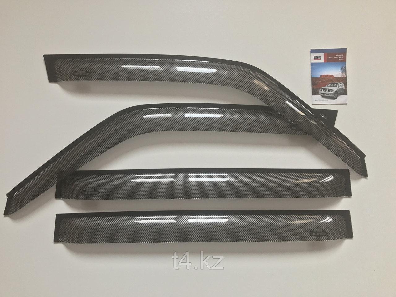 Toyota Prado 90/95 ветровики/дефлекторы дверей- EGR карбон