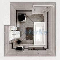 Акриловая  прямоугольная ванна Рагуза 190*90 см. 1 Марка. Россия (Ванна + каркас +ножки), фото 3