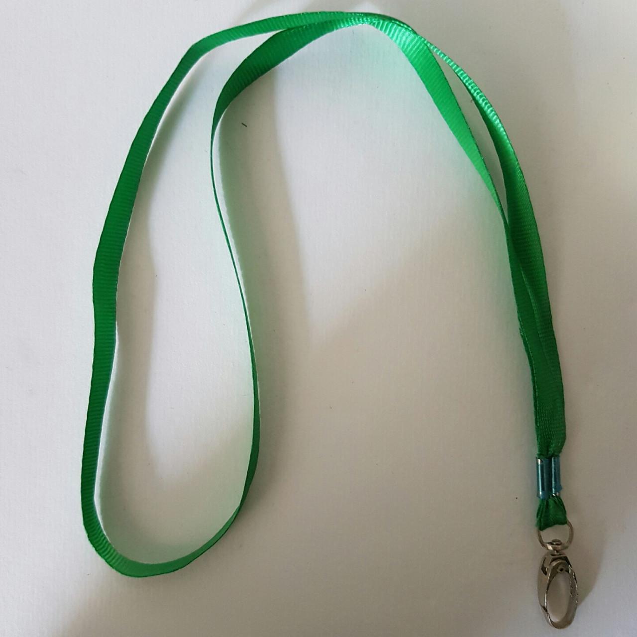 Ланьярд зеленый для бейджа