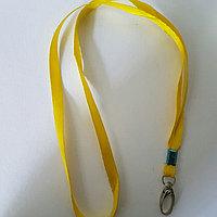 Ланьярд 1 см желтый