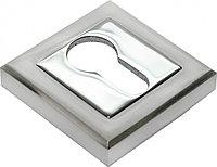 Накладка на ключевой цилиндр Rucetti RAP KH-S SN/CP (цвет: белый никель/полированный хром)
