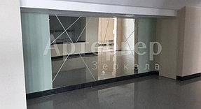 Зеркало крупноформатное настенное с пескоструйным рисунком.  3