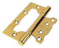 Дверная петля без врезки Rucetti RFH-100Х75Х2,5 PG (цвет: золото)