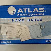 Бейджики пластиковые atlas 54х85