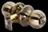 Дверная ручка-кноб без фиксатора Rucetti HK-01 AB (цвет: античная бронза)
