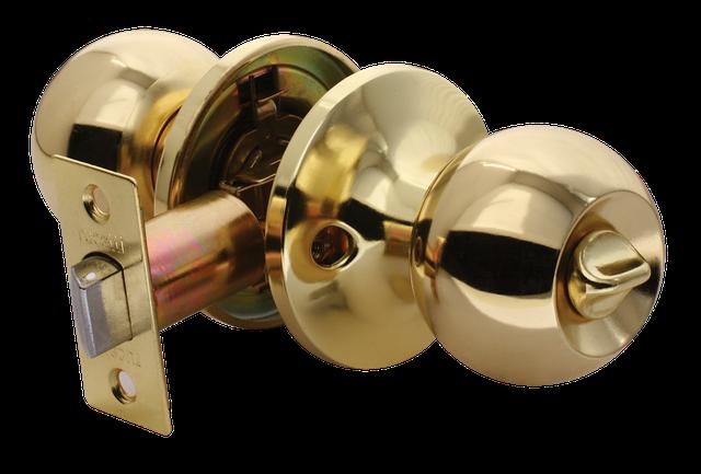 Дверная ручка-кноб с фиксатора WC Rucetti HK-01 WC PG