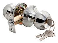 Дверная ручка-кноб с ключ-фиксатором Rucetti HK-01 L PC (цвет: полированный хром)