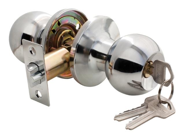 Дверная ручка-кноб с ключ-фиксатором Rucetti HK-01 L PC