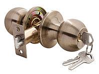 Дверная ручка-кноб с ключ-фиксатором Rucetti HK-01 L AB (цвет: античная бронза)