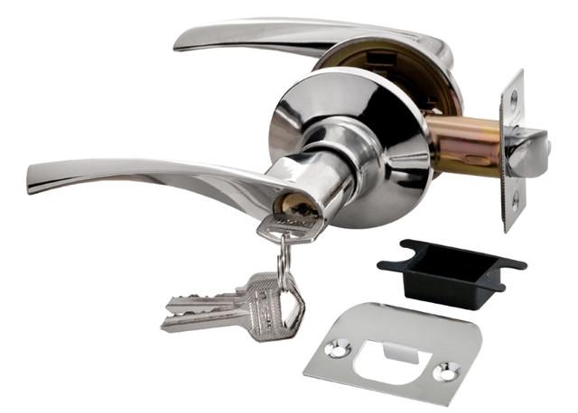 Дверная ручка-кноб с ключ-фиксатором Rucetti HK-02 L PC