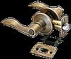 Дверная ручка-кноб с фиксатором Rucetti HK-03 WC MAB (цвет: матовая античная бронза)