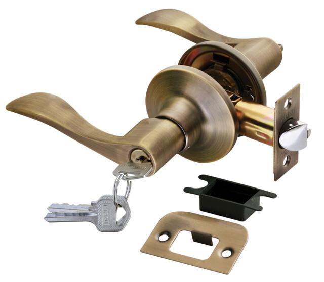 Дверная ручка-кноб с ключ-фиксатором Rucetti HK-03 L MAB