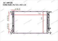 Радиатор основной Great Audi S6. C7 2011-Н.В 2.0TDi 8K0121251K
