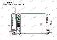 Радиатор основной Great BMW Series 3. E30 1984-1994 1.6i / 1.8i 17111719301