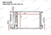 Радиатор основной Great BMW Series 3. E30 1984-1994 1.8i 17111712982