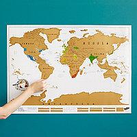 Скретч карта мира 88х52см, фото 1