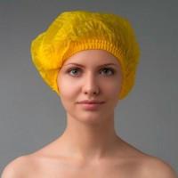 Шапочка косметическая флизилиновая цветная (уп 100 шт) 605