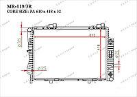 Радиатор основной Great Mercedes C-Класс. W202 1993-2000 2.8i / 3.6i 2025004103