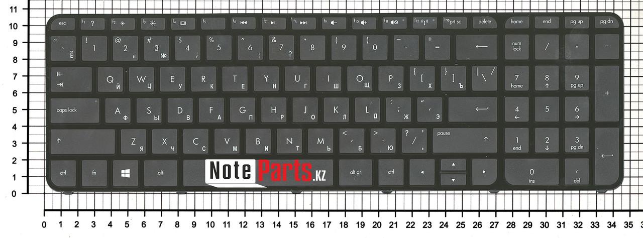 Клавиатура для ноутбука HP Pavilion Sleekbook Ultrabook 15 -B / 15T-B / 15Z-B без рамки