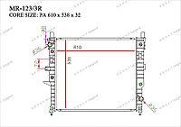 Радиатор основной Great Mercedes M-Класс. W163 1997-2005 3.2i / 3.5i / 4.3i / 5.0i / 5.5i 1635000003