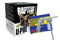 Защитное покрытие RAPTOR U-POL RLB/S4/GUN ПРОМОКОМПЛЕКТ ЧЕРНЫЙ (4X750+ОТВ+ПИСТОЛЕТ)