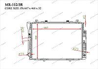 Радиатор основной Gerat Mercedes S-Класс. W140 1992-1998 2.8i  3.0i  3.2i 1405002103