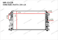 Радиатор основной Great Mercedes Sprinter. W906 2006-Н.В 2.1CDi / 3.0CDi 9065000302