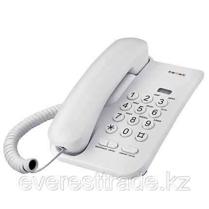 Телефон проводной Texet ТХ-212 серый, фото 2