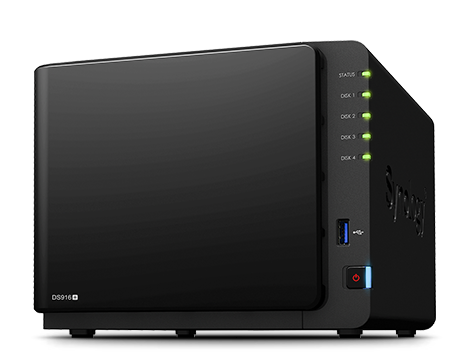 NAS-сервер Synology DS916+(8GB)  4xHDD «All-in-1» (до 7-и HDD модуль DX513/DX213)