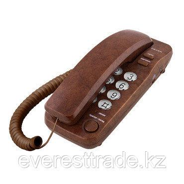 Телефон проводной Texet ТХ-226 коричневый мрамор, фото 2