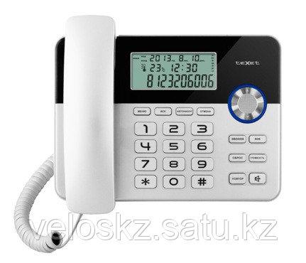 Телефон проводной Texet ТХ-259 черный-серебристый