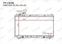 Радиатор основной Great Toyota RAV 4. XA10G 1997-2000 2.0i 164007A480