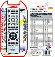 Пульт ДУ универсальный HUAYU Sharp RM - 758G LCD TV