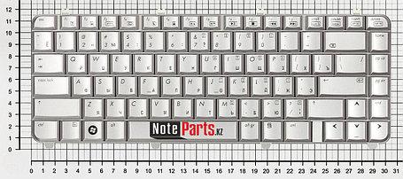Клавиатура для ноутбука HP dv5-1000, dv5-1100 серебряная, фото 2