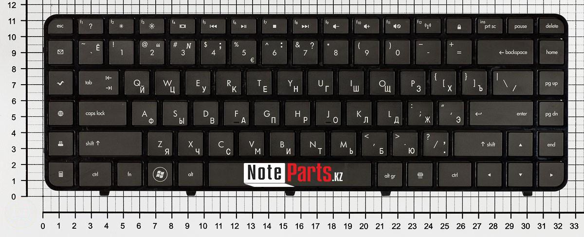 Клавиатура для ноутбука HP Pavilion dv6-3000 / dv6-3100 / dv6-3300  RU