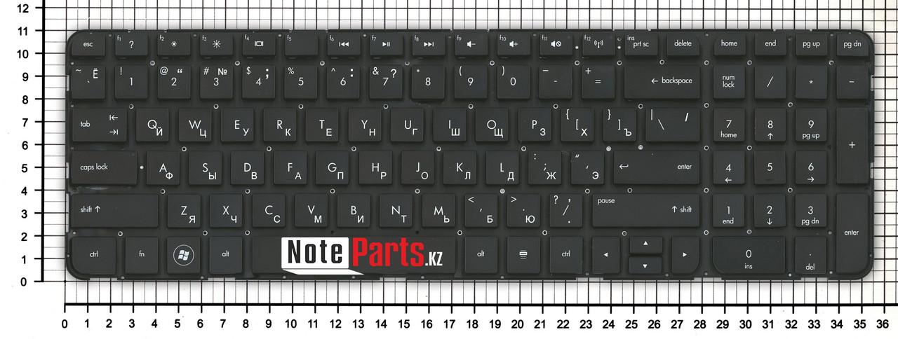 Клавиатура для ноутбука HP Pavilion dv6-7000 / dv6-7100 /  dv6-7170er  без рамки