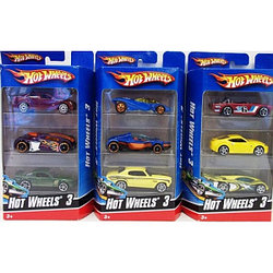 Hot wheels Подарочный набор 3 машинки