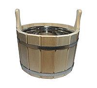 Шайка для бани и сауны, объемом 10 л, предназначена для хранения воды, приготовления настоев из трав и аромати