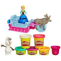 """Игровой набор Play-Doh Холодное сердце """"Приключение Анны на санях"""""""